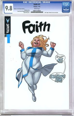 Faith (Valiant Entertainment) #1 Variant Clayton Henry Valiant x CGC