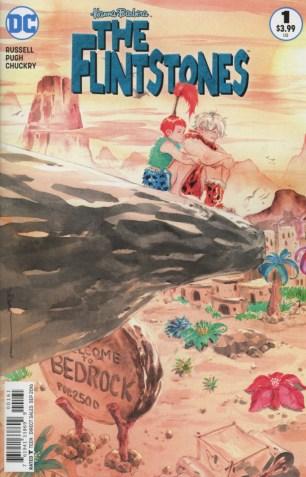 Flintstones (DC) #1 Variant Dustin Nguyen Pebbles & Bamm-Bamm