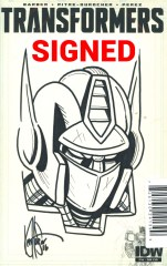 Transformers Vol 3 #46 DF Artists Edition Signed & Remarked By Ken Haeser Sketch Variant