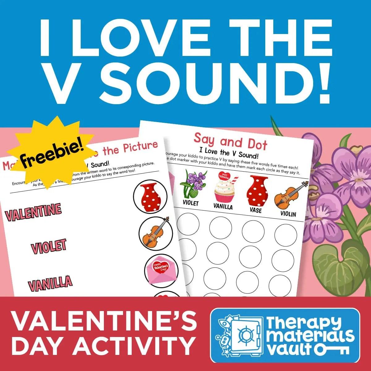 I Love The V Sound Valentine S Day Activities