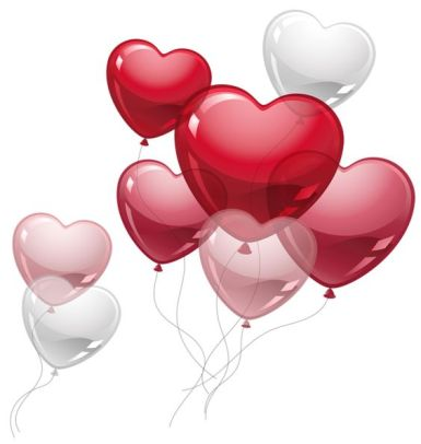 red baloon hearts