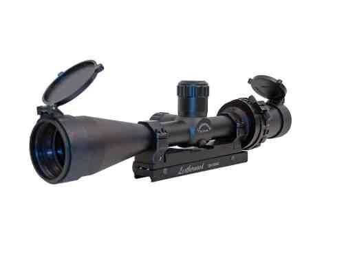 Hi-Lux Optics Art Series 2.5-10x44mm Tactical Auto Ranging Trajectory Riflescope, Matte Black