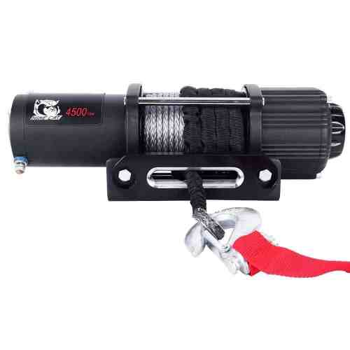 Auxmart 4500 LB UTV / Utility Winch Wireless Remote Synthetic Rope and Universal Mount