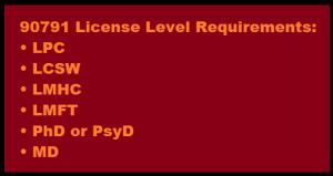 90791 license level