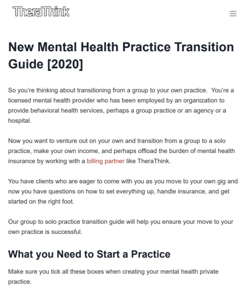 mental health practice guide