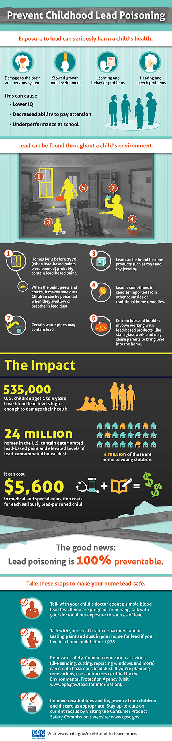 cdc lead infographic