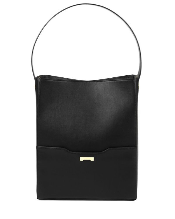 Black Bucket bag in ecofriendly vegan leather handbag