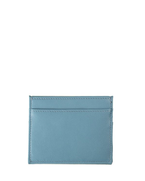 light blue card holder by Jenah St. in ecofriendly vegan leather affordable luxury