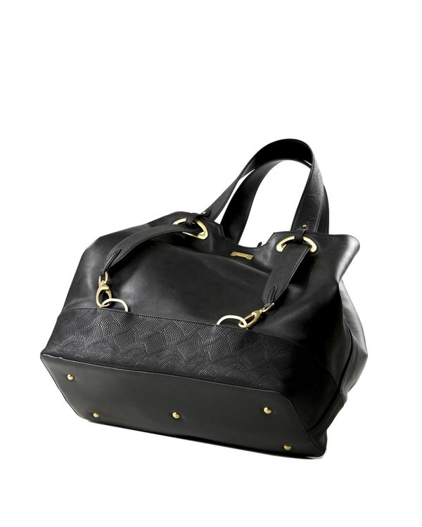 python black ecofriendly vegan leather handbag affordable luxury