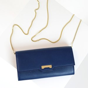 Dark blue Minibag wallet in ecofriendly vegan leather