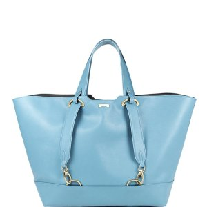 Light blue sustainable vegan leather handbag affordable luxury