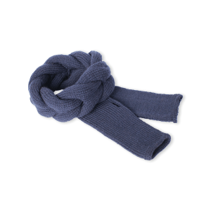 Navy Blue Headband and Finger-less Alpaca Gloves Set - Winter and Autumn Accessories - ABURY Collection