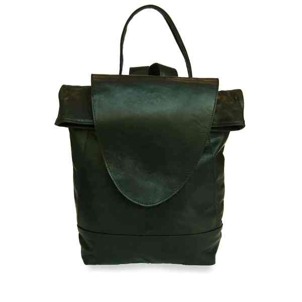 Black Leather Backpack for women product shot front