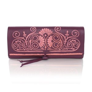 ABURY Mauve and Rosé Berber Clutch - Berber Collection - Clutch Bags - ABURY Collection