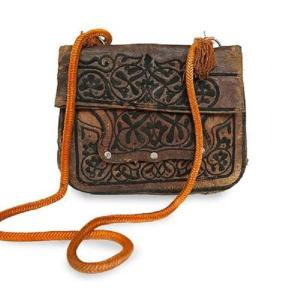 Front view ABURY Vintage Leather Berber Bag Najwa