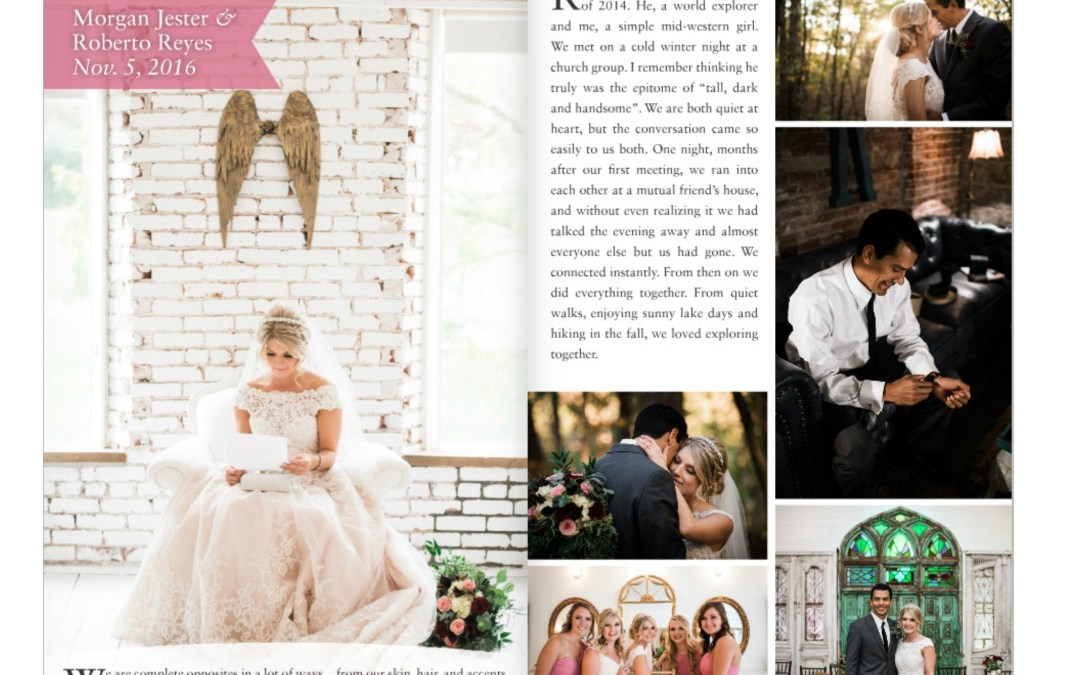 Cooper Chapel Wedding With Reception At The Ravington Featured in NWA Wedding Ideas Magazine!