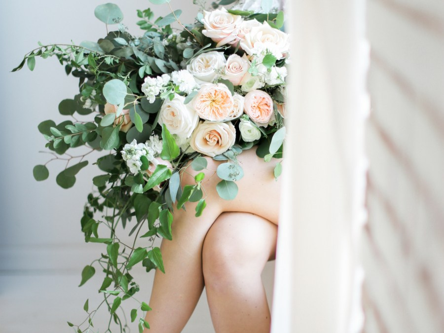 A sophisticated boudoir shoot featured on Style Me Pretty!