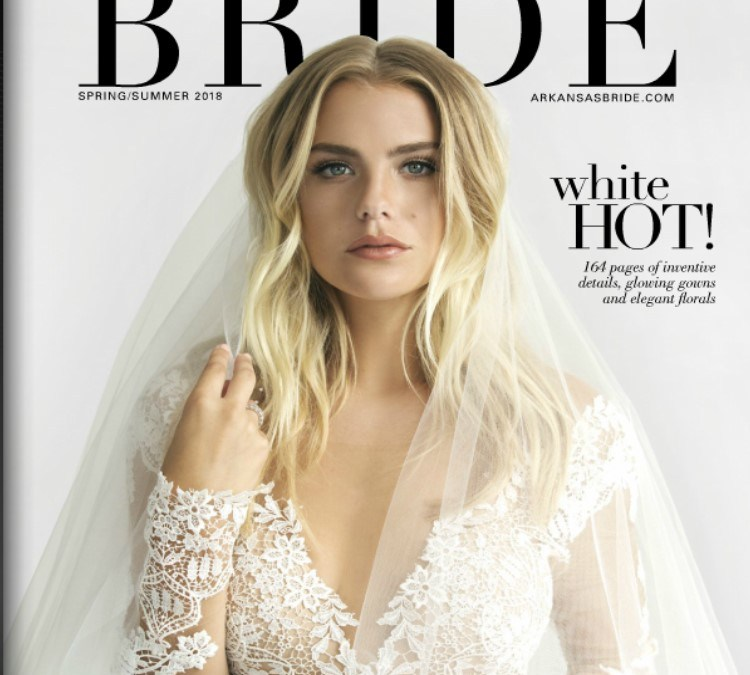 Tuscan Styled Shoot featured in Spring Arkansas Bride Magazine