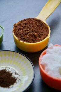 Kakaopulver, Kokosöl, Zutaten, Rezept, recipe, Ingrediens, cacao
