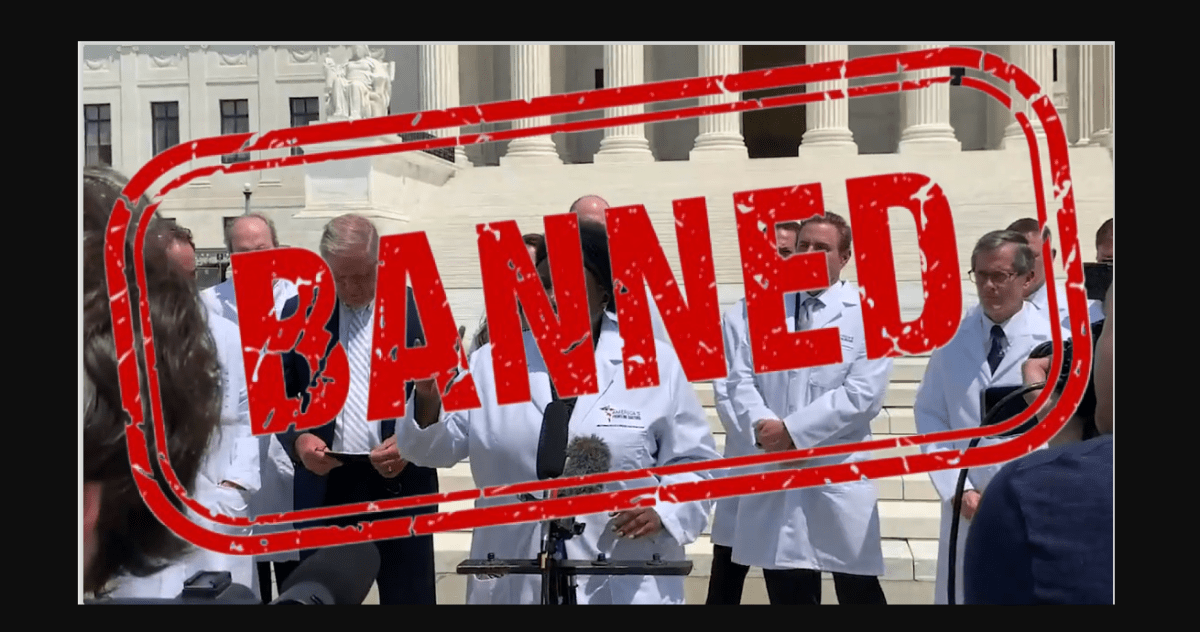 Covid 19 Doctors Video banned by Facebook and YouTube