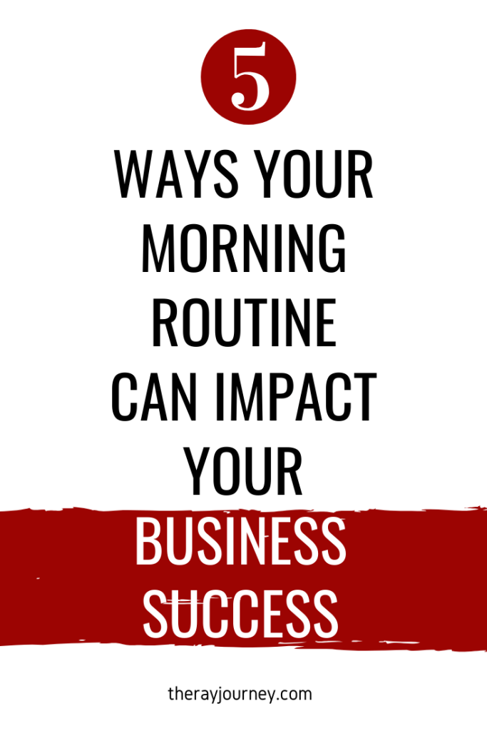 The 5 Ways Your Morning Routine Can Tremendously Impact Your Business Success. Pinterest.