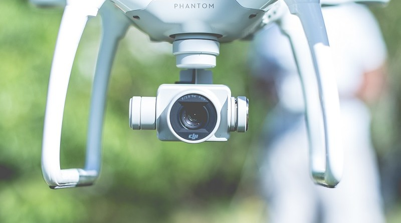 close up of a drone's camera