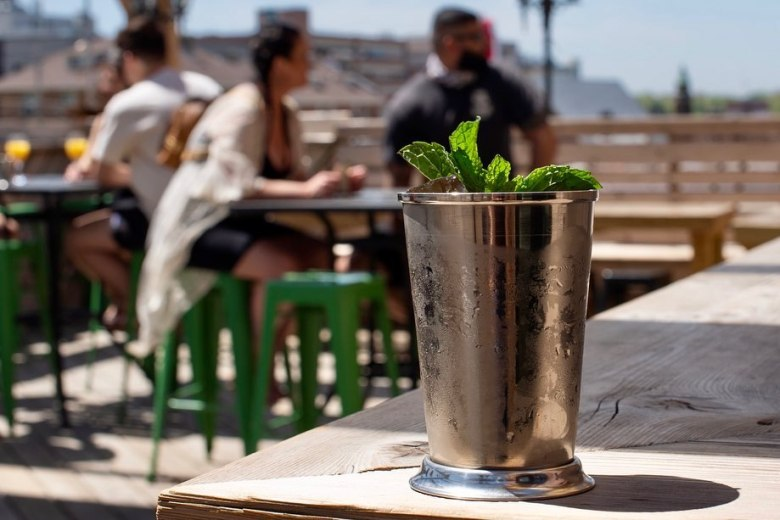 Mint Julep at Little Ricky's patio in Blackstone