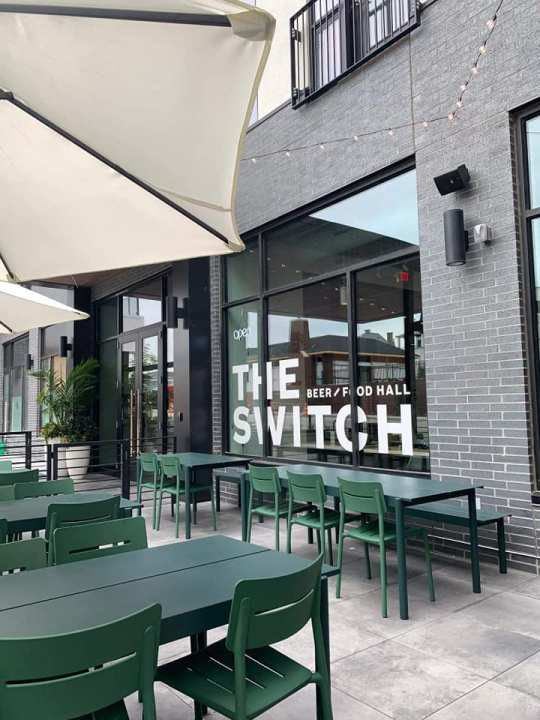 The Switch beer/food hall patio