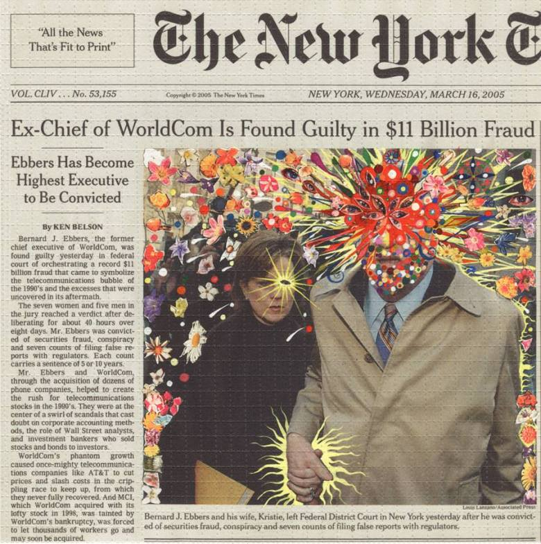 Fred Tomaselli at the Riley CAP gallery.
