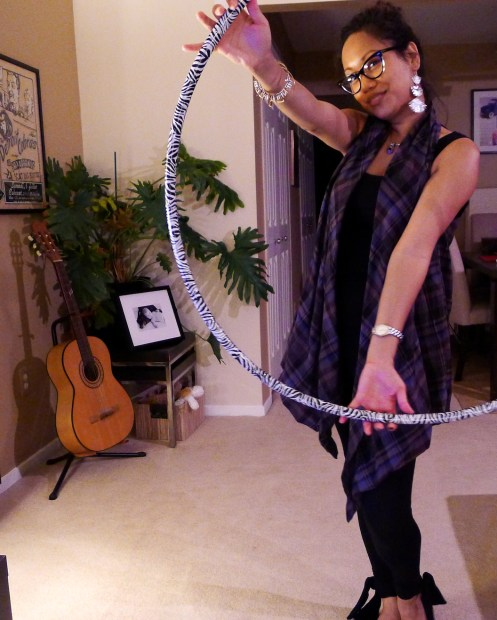 Asian Girl, Hula Hoop, Hooping, Animal Print, Emami