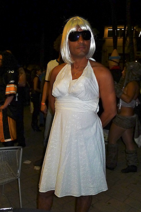 thereafterish, Aloha Tower Halloween Party, Male Marilyn Monroe Costume