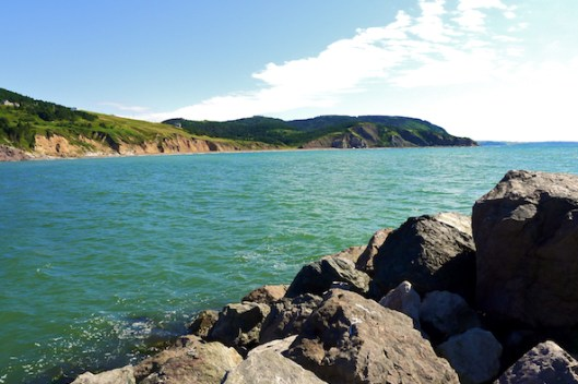 Cape Breton, Mabou, Mabou Harbor, Breakwater, Mabou Cliffs