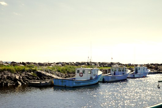 Cape Breton, Mabou, Mabou Harbor, Old fishing boats