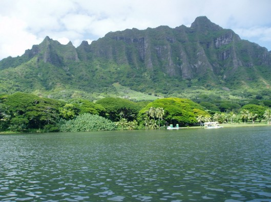Moli'i Fish Pond, Kaneohe, Hawaii, Moli'i Gardens