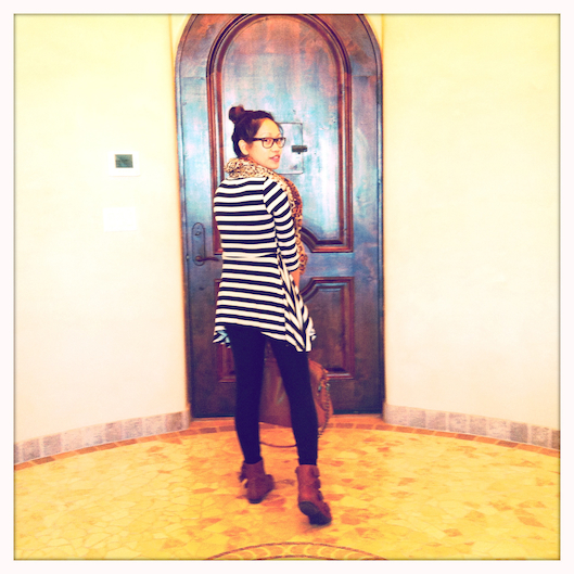 OOTD, YesStyle Striped Peplum Top, Travel Style, Placitas New Mexico