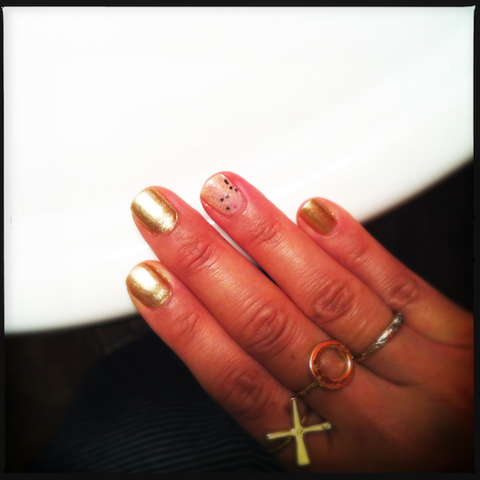 Jan Photo a Day, Instagram, JewelMint XO rings, Butter By London Gold Lacquer
