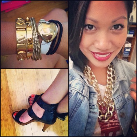 thereafterish, Low Effort High Impact Style, insta-style, OOTD, gold neck party, gold arm party, arm party, HRH Collection