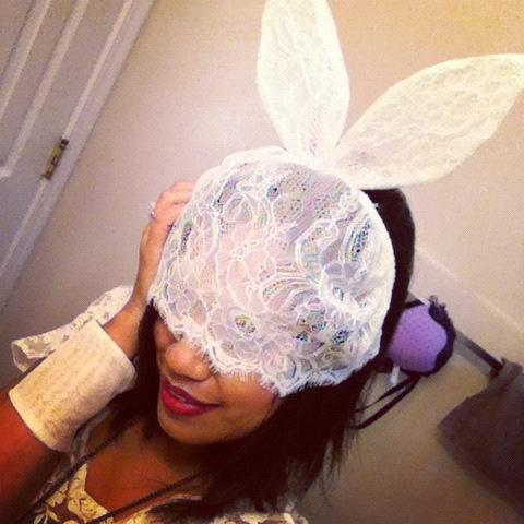 thereafterish, Lady Gaga White Rabbit, White Rabbit Halloween Costume, Halloween Honolulu
