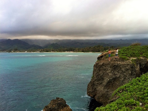 hawaii life, living in hawaii, thereafterish, things to see in Hawaii, Laie Point, Cliff Jumping Hawaii