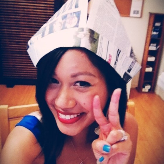 Day in the Life, thereafterish, Hawaii Life, Birfday, happy asian girl, paperhat, selfie