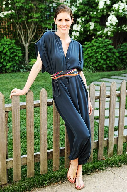 thereafterish, fashion inspo, summer fashion, easy looks for summer, cool looks for summer, hilary rhoda style, hilary rhoda jumpsuit, hilary rhoda silk jumpsuit style