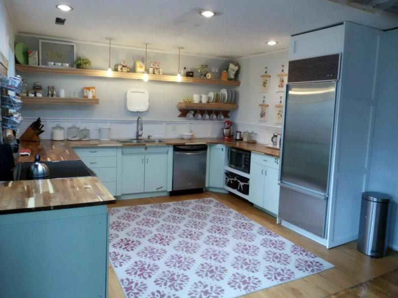 Kitchen 1950s Metal Cabinets Refinished Youngstown