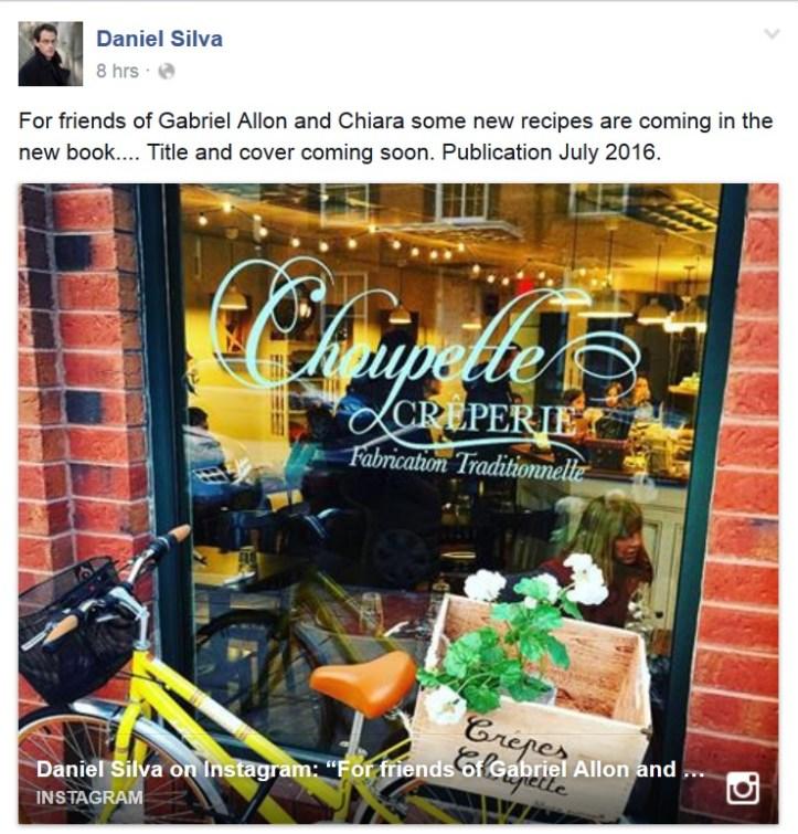 Daniel Silva facebook post