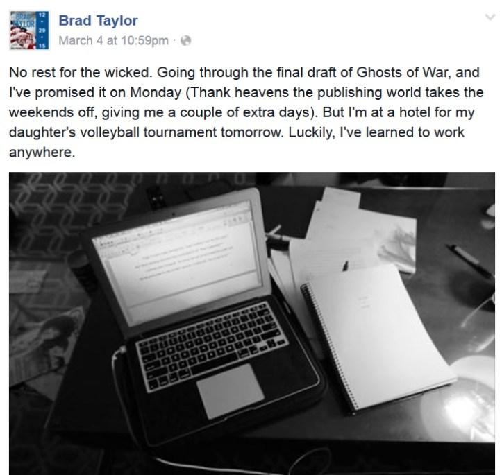 Brad Taylor Facebook post 1