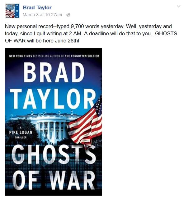 Brad Taylor Facebook post 3