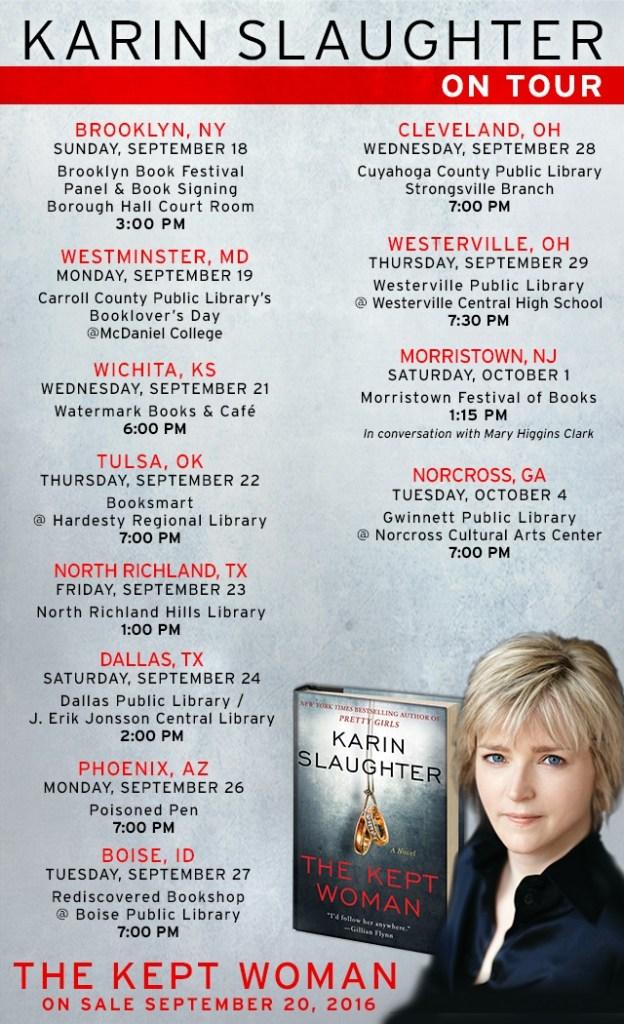 Karin Slaughter 2016 Book Tour