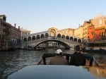 Water taxi to the Rialto