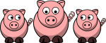 Triple pigs
