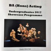 University of Northampton, BA (Hons) Acting, Undergraduates 2017 Showcase Programme, Tristan Bates Theatre, London, 21st June 2017
