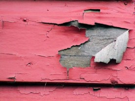 To pass an FHA inspection, chipping paint like this won't fly.